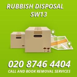 Barnes rubbish disposal SW13