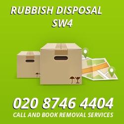 Clapham Common rubbish disposal SW4