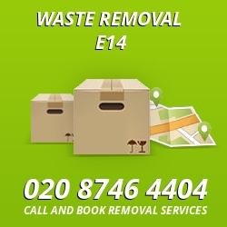 Canary Wharf waste removal E14